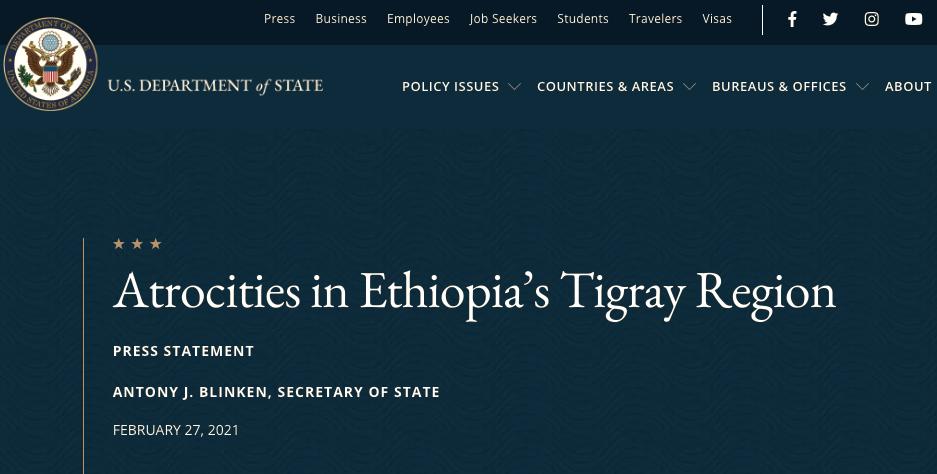 Atrocities in Ethiopia's Tigray Region