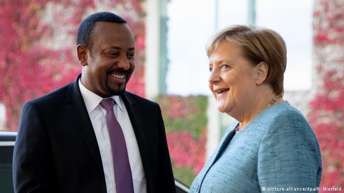 Premier etiope Abiy & Premier tedesco Angela Merkel