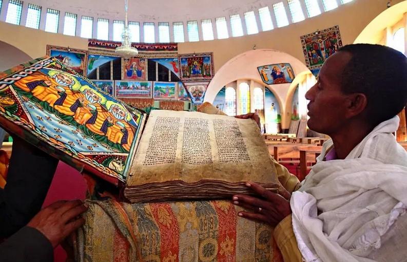 Presso la chiesa di Santa Maria di Sion ad Axum, nella regione del Tigray in Etiopia. Credito: Jasmine Halki.