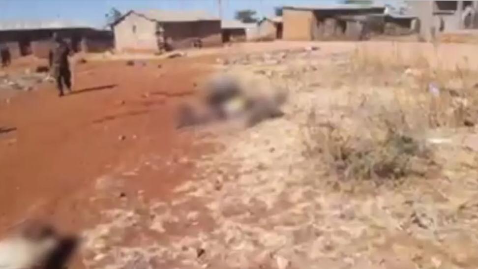 Screengrab del video, girato nel villaggio di Mai Harmaz nel Tigray, all'inizio di gennaio 2021. © France 24 screengrab