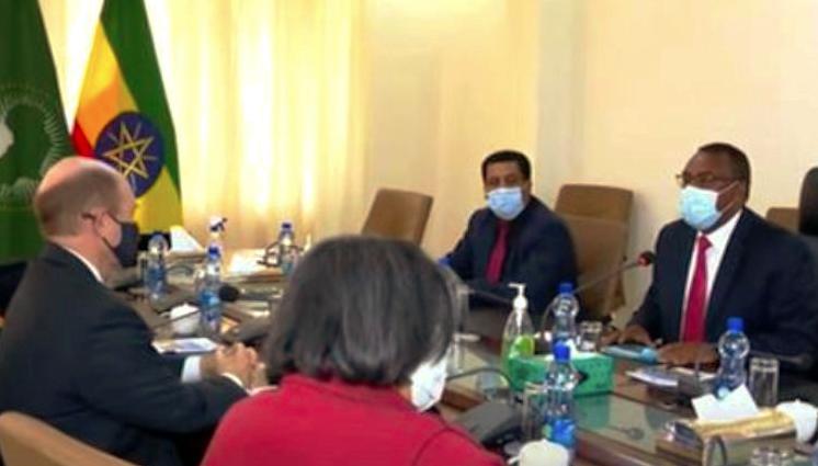 Il Vice Premier Demeke Informa La Delegazione Statunitense Guidata Da Chris Coons Sugli Ultimi Sviluppi In Etiopia