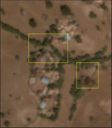 Fig. 4. More than 500 structures deliberately destroyed in and around Gijet town – an analysis of satellite imagery shared by Reuters.