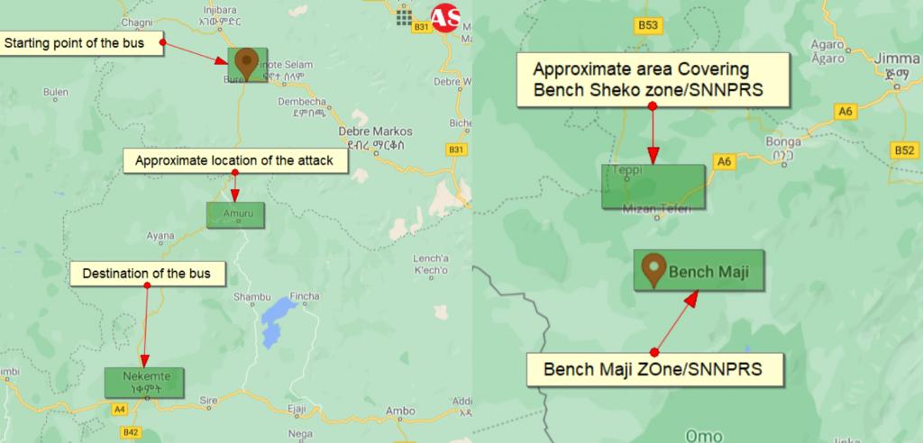 Etiopia : Più di 20 Civili Uccisi In Due Attacchi Separati in Amhara e SNNPRS