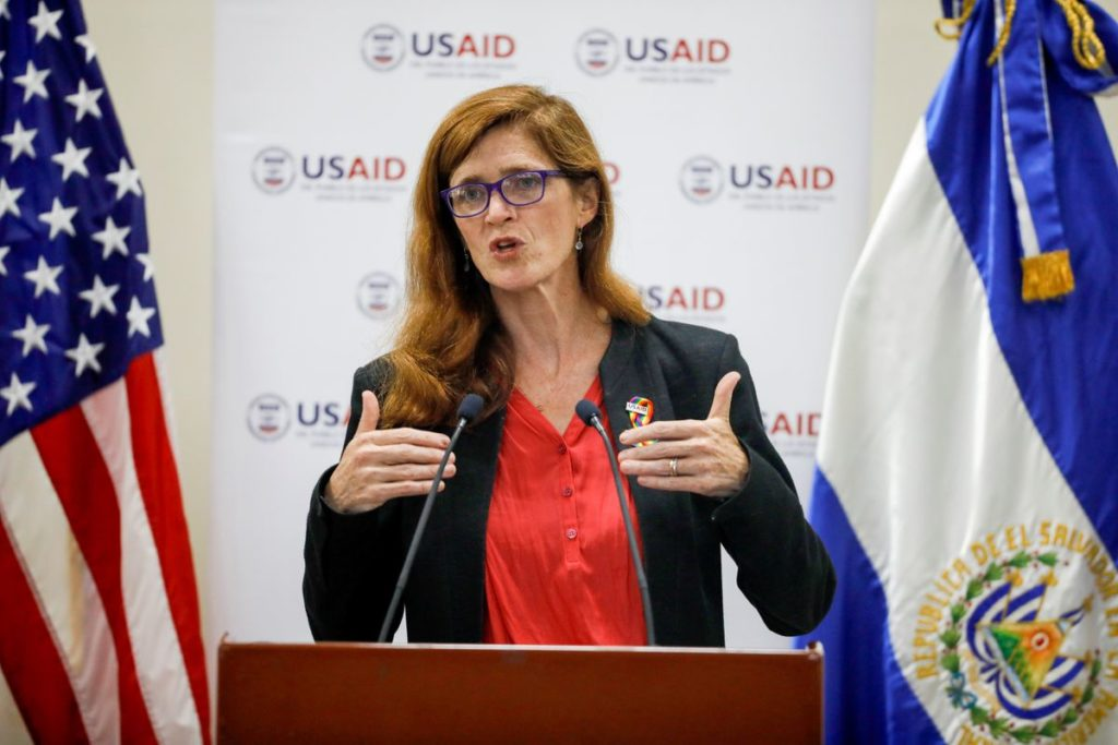 Samantha Power, administrator of the United States Agency for International Development