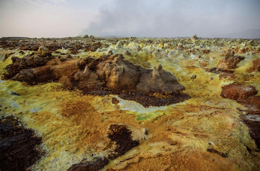 Sorgenti sulfuree nella regione settentrionale dell'Afar, in Etiopia.