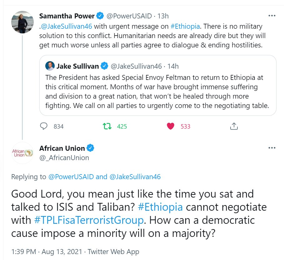 Samantha Power USAID e Unione Africana - African Union - Twitter