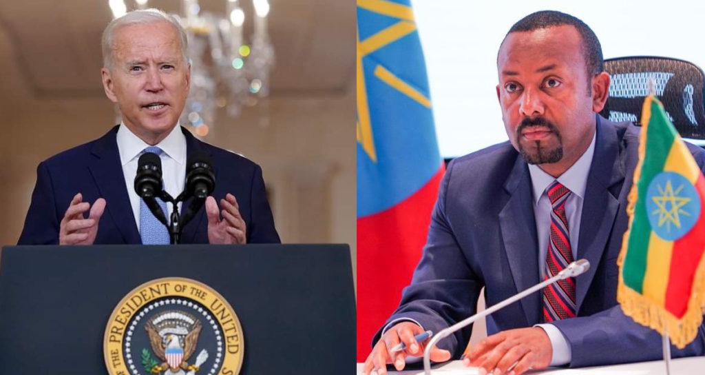 Joe Biden USA - Abiy Ahmed Ali Ethiopia