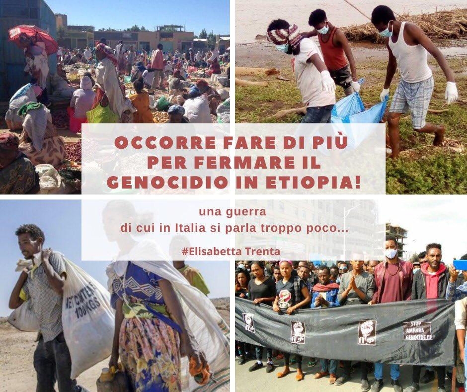 Occorre fare di più per fermare il genocidio in Tigray - Etiopia - Elisabetta Trenta