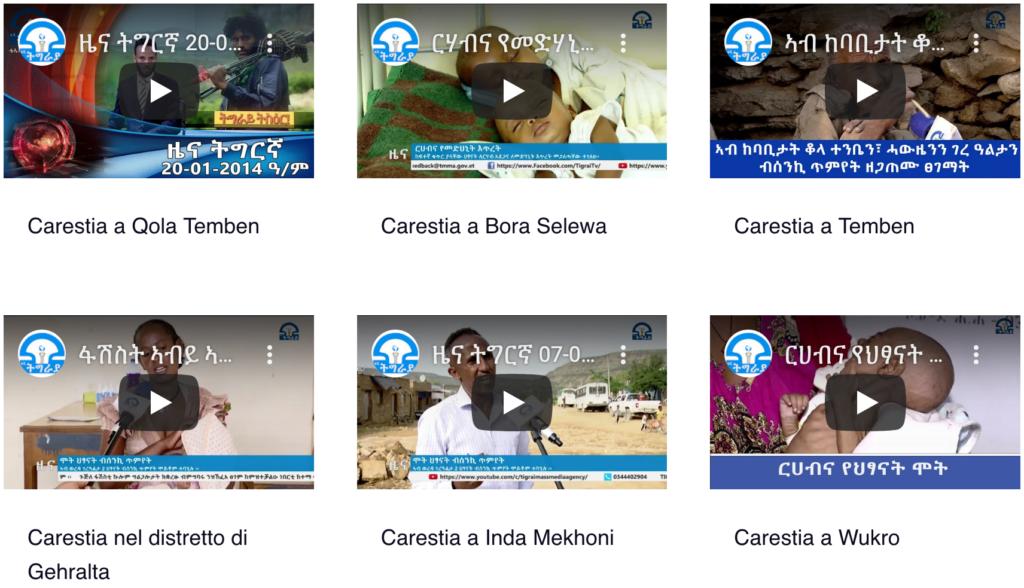 Tigray - Evidenze VIDEO e Immagini di carestia - catastrofe umanitaria 2021