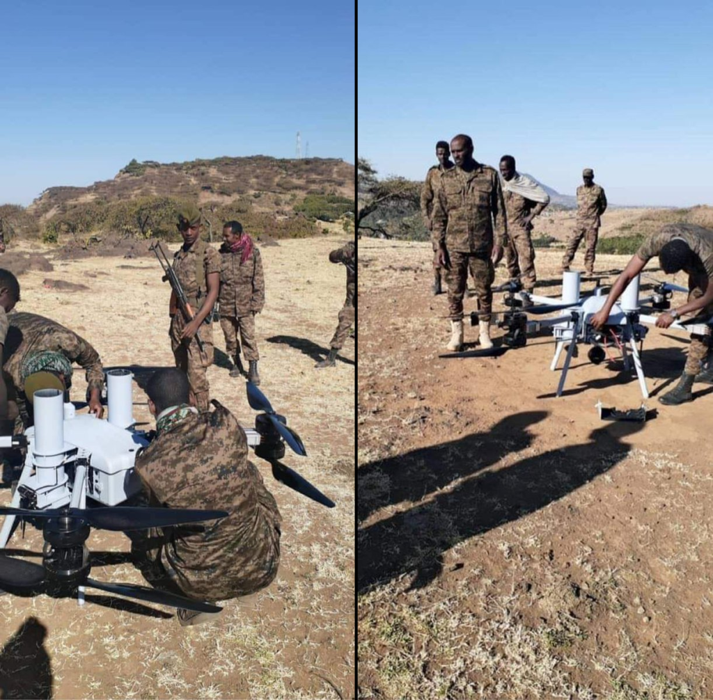 Evidenze droni forniti da Emirati Arabi al gov. etiope per il genocidio in Tigray